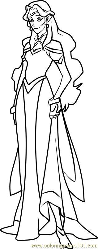 princess allura coloring page  voltron legendary