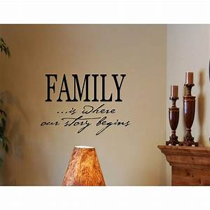 family is where our story begins vinyl wall decals quotes With vinyl lettering for walls family