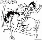 Rodeo Coloring sketch template