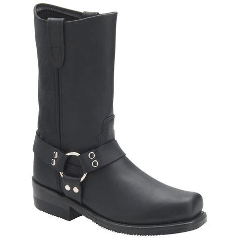 biker boots men men 39 s 12 quot double h steel toe harness boots 133629