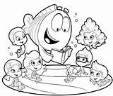 Coloring Bubble Guppies Pages Printable Print sketch template