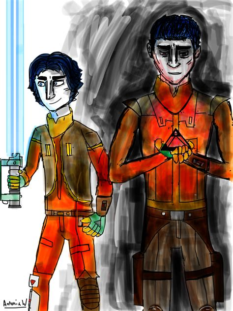 My Ezra Bridger drawing made on notes: so I am not really ...
