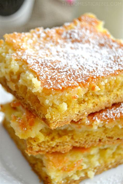 gooey butter cake bars  domestic rebel
