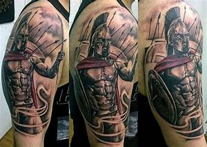 100 Warrior Tattoos For Men - Battle Ready Design Ideas