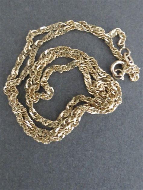 Vintage 14ct Gold Necklace 585 Gold Ebay