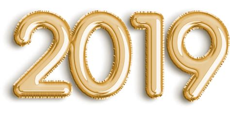 2019 Golden Balloon New Year Celebration Png Image Free