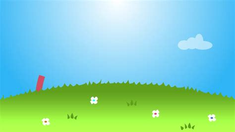 rainbow loop animation clouds grass stock footage video
