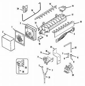 Ice Maker Diagram  U0026 Parts List For Model Msd2454grw Maytag