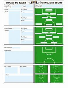 soccer scouting template other designs pinterest With soccer team positions template