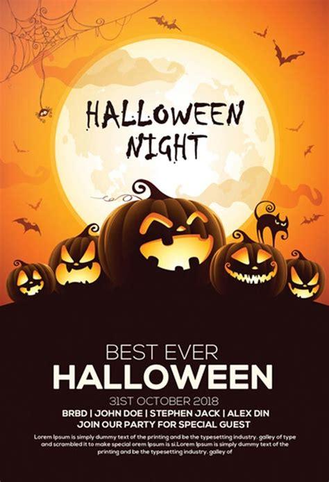 free printable halloween flyer 60 premium free psd flyer templates free psd templates