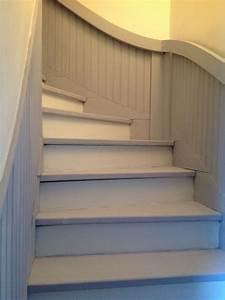 Décoration D Escalier Intérieur : peindre escalier et lambris d coration d 39 int rieur patine a l 39 ancienne pinterest lambris ~ Nature-et-papiers.com Idées de Décoration
