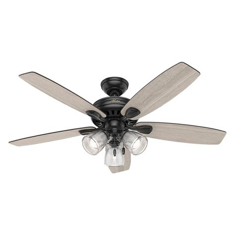 matte black ceiling fan hunter highbury ii 52 in led indoor matte black ceiling