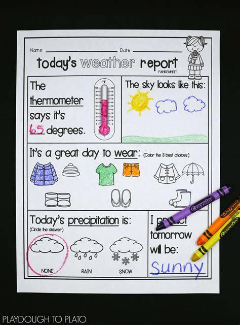 weather activity pack playdough  plato