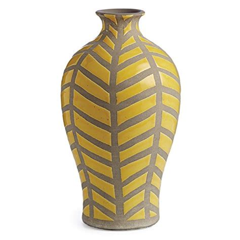 Yellow And Grey Vase by 13 5 Yellow And Gray Handcrafted Decorative Ceramic