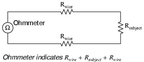 Kelvin Wire Resistance Measurement Metering Circuits