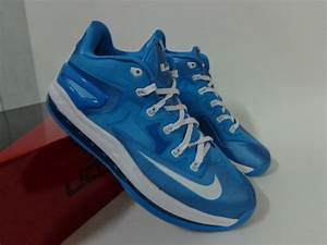 2014 Nike Lebron James 11 Low Blue White Shoes Low Price ...