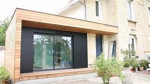 agrandissement de maison a bordeaux en gironde attenante With maison en palette plan 15 charpente bois toit plat mzaol