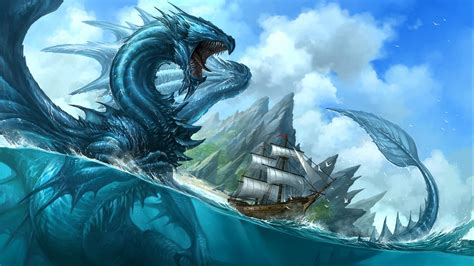 sea monster desktop wallpapers wallpaper high