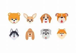 Dog Head Vector - Download Free Vector Art, Stock Graphics ...
