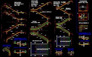 Detail Staircase DWG Section for AutoCAD • Designs CAD
