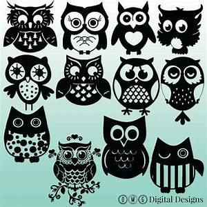 Owl Silhouette Clip Art – Cliparts