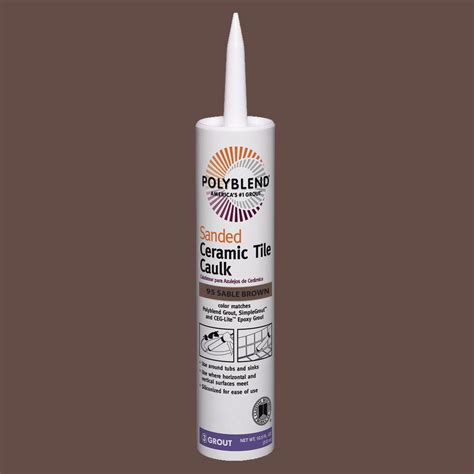 custom building products polyblend 95 sable brown 10 5 oz