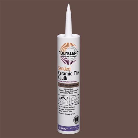 Polyblend Sanded Ceramic Tile Caulk by Custom Building Products Polyblend 95 Brown 10 5 Oz
