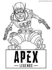 15 Best APEX LEGENDS COLORING PAGES images | Coloring