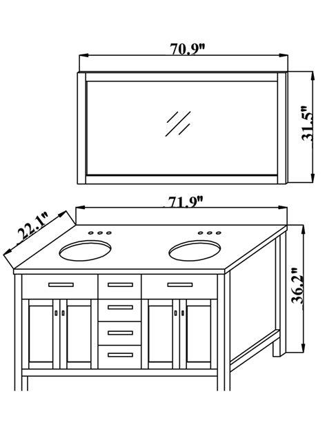 double sink vanity width quot moscony double sink