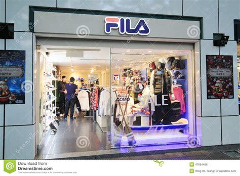 fila shop  hong kveekoong editorial photo image