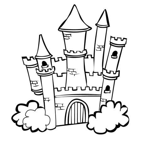 castle coloring pages    print