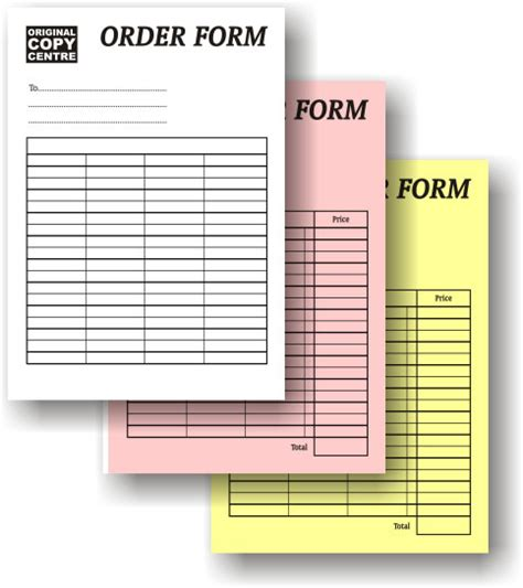 Triplicate Form Template by Nj Promotions Printing Branding