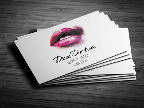 Makeup Artist Business Card Design  Creatica Studio
