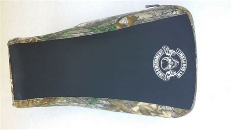 Yamaha Grizzly Seat Cover Camo Black Gun Law Logo