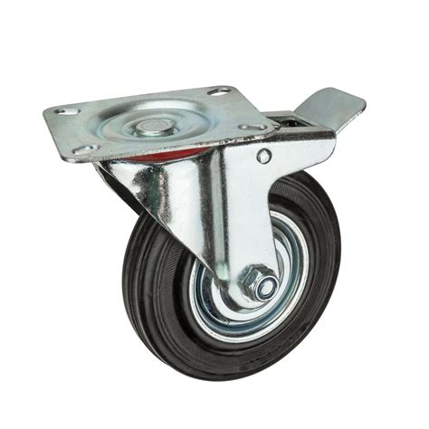 lenkrollen mit bremse transportrollen lenkrollen mit bremse d 125 mm bis 100 kg