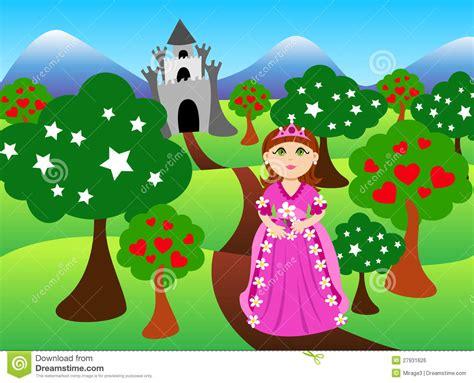 princess  castle landscape royalty  stock image