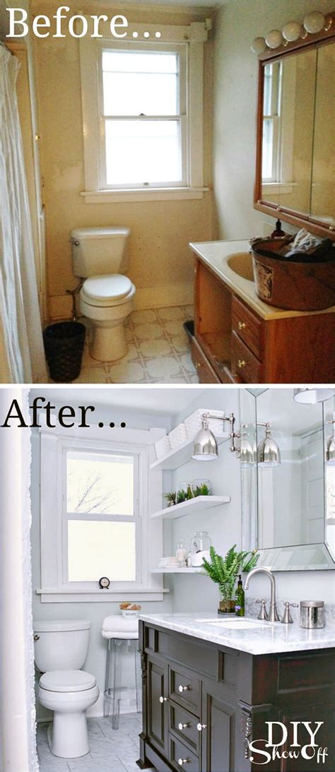 tiny bath makeovers decorating  small space