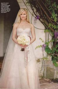 wedding trends blush wedding dresses belle the magazine With reese witherspoon wedding dress
