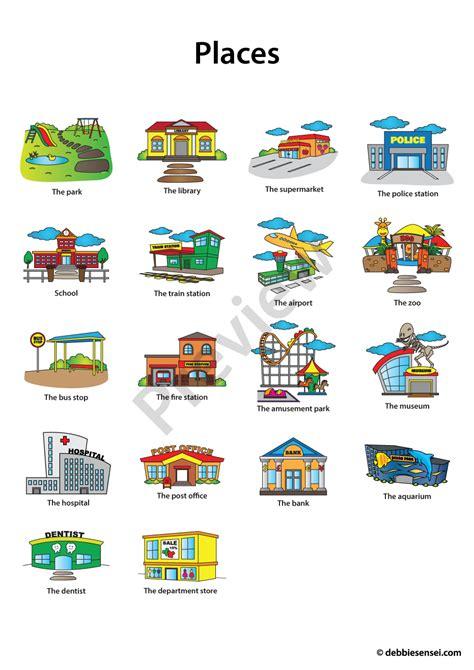 Debbie Sensei  Free Esl Places Flashcards