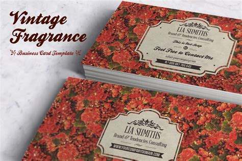 fragrance business card template business card templates