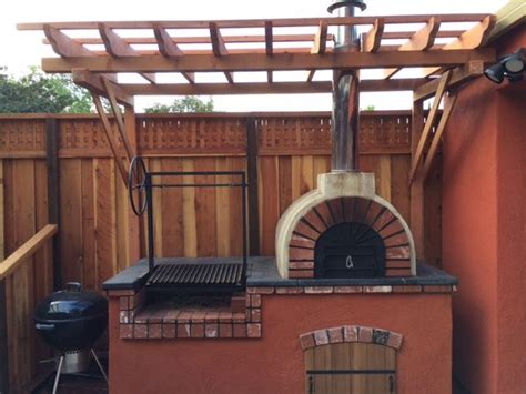 rustic diy wood fired pizza oven  argentine grill