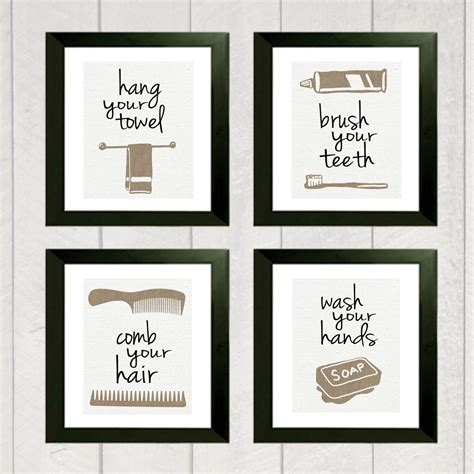 print bathroom ideas bathroom print set of 4