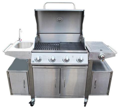 barbecue gaz 5 bruleurs inox
