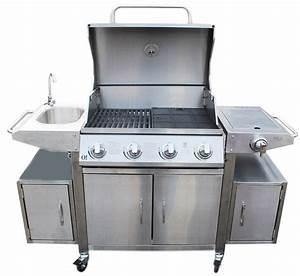 Barbecue Gaz Avec Plancha Et Grill : barbecue inox gaz avec plancha ~ Melissatoandfro.com Idées de Décoration