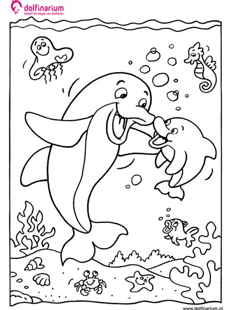 Dolfijnen In De Zee Kleurplaat by Kleurplaat Dolfinarium 187 Animaatjes Nl