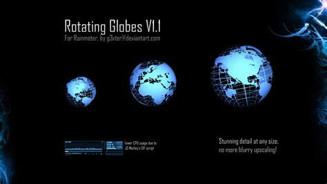 Rainmeter Animated Wallpaper - rainmeter rotating globe wallpaper 150564