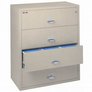 fireking 4 4422 c 4 drawer lateral filing cabinet ul 1 With fireproof document chest