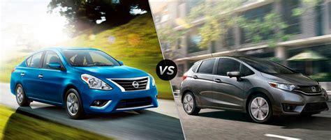 Nissan Versa Vs Honda Fit by Nissan Versa Hatchback Vs Honda Fit