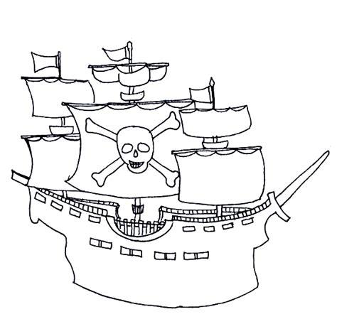 Dessin Bateau Pirate Noir Et Blanc by Dessin De Coloriage Bateau Pirate 224 Imprimer Cp03496