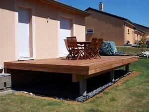 faire une terrasse en bois surelevee mzaolcom With terrasse en bois surelevee